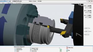 Entrenamiento CNC, simulación de Torneado
